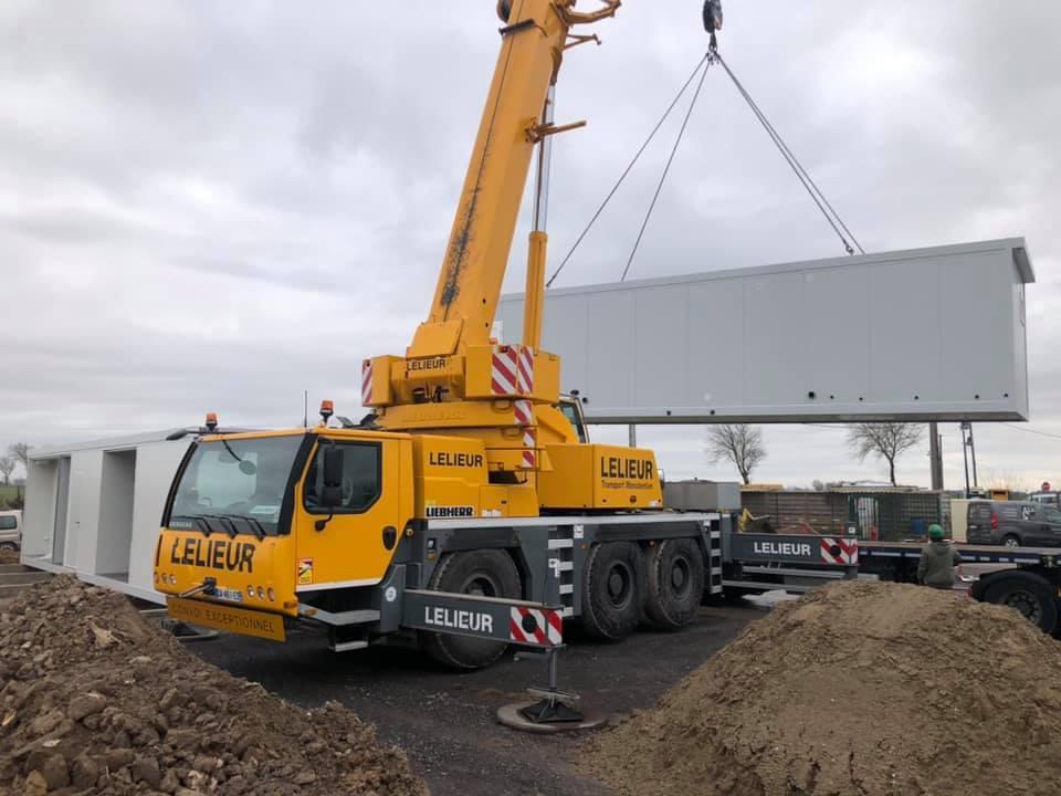 Livraison et installation de bâtiments Modulaire friterie dans les Hauts-de-France