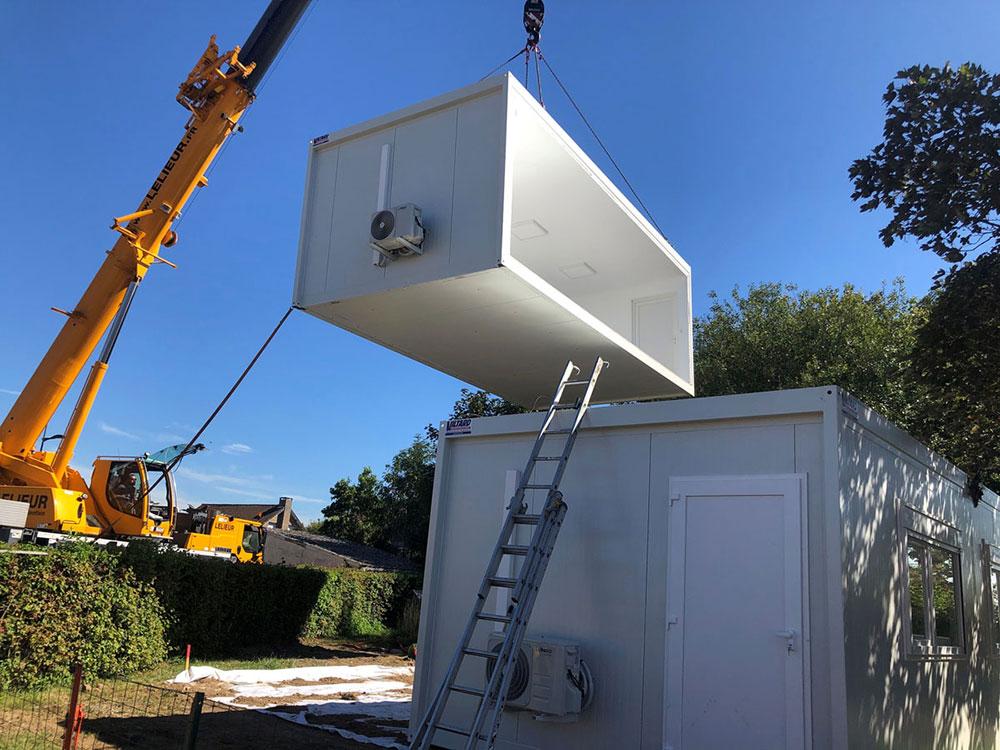 Installation bâtiment modulaire extérieur