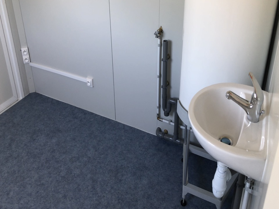 Wc sanitaire installation intra bâtiments modulaire