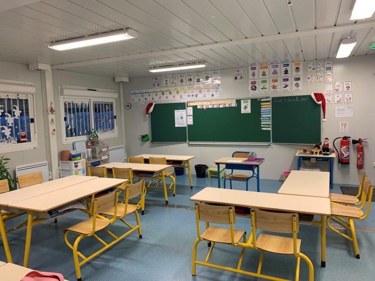 salle de classe en modulaire et préfabriqué